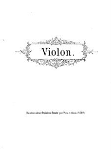 Sonata for Violin (or Flute) and Piano No.2, Op.50: Violin part by René de Boisdeffre