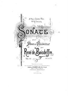 Sonata for Cello and Piano, Op.63: Score by René de Boisdeffre