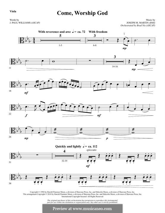 Come, Worship God: Viola part by Joseph M. Martin