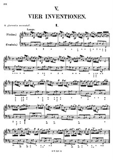 Four Inventions for Violin and Basso Continuo, Op.10: Invention No.1 by Francesco Antonio Bonporti