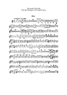 In the Steppes of Central Asia: Oboe and cor anglais parts by Alexander Borodin