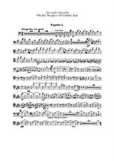 In the Steppes of Central Asia: Bassoons parts by Alexander Borodin