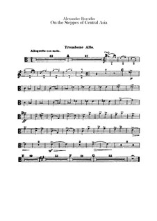 In the Steppes of Central Asia: Trombones parts by Alexander Borodin