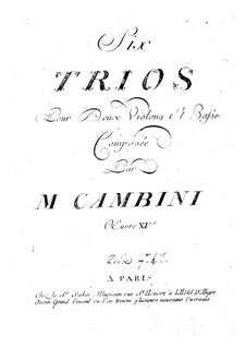 Six String Trios, Op.15: Six String Trios by Giuseppe Maria Cambini