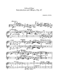 Introduction and Allegro, Op.47: Violins I part by Edward Elgar
