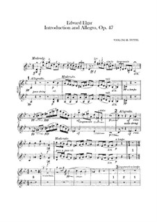 Introduction and Allegro, Op.47: Violins II part by Edward Elgar