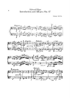 Introduction and Allegro, Op.47: Violas parts by Edward Elgar