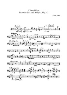 Introduction and Allegro, Op.47: Double bass part by Edward Elgar