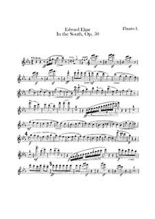 In the South (Alassio). Concert Overture, Op.50: Flutes parts by Edward Elgar