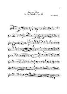 In the South (Alassio). Concert Overture, Op.50: Clarinets parts by Edward Elgar