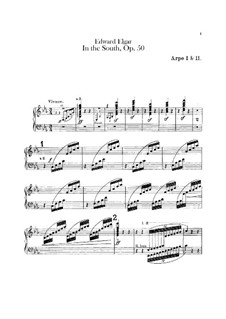 In the South (Alassio). Concert Overture, Op.50: Harps part by Edward Elgar