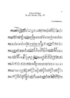 In the South (Alassio). Concert Overture, Op.50: Double bass part by Edward Elgar