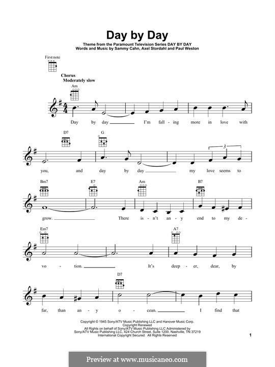 Day by Day: For ukulele by Oscar Ahnfelt