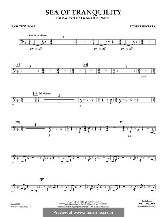 Sea of Tranquility: Bass Trombone part by Robert Buckley