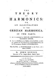 The Theory of Harmonics: Part I by John Keeble