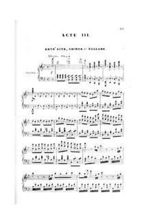 La circassienne: Act III, piano-vocal score by Daniel Auber