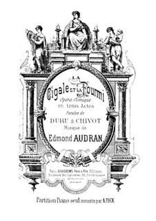 La cigale et la fourmi: Arrangement for piano by Edmond Audran