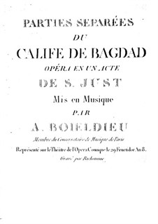 Le calife de Bagdad: Violin I part by Adrien Boieldieu