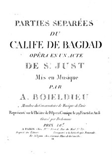 Le calife de Bagdad: Violin II part by Adrien Boieldieu