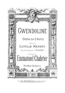 Gwendoline: Act II, Prelude by Emmanuel Chabrier