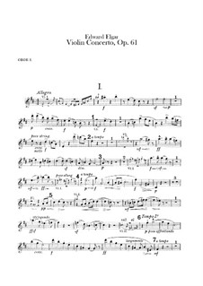 Concerto for Violin and Orchestra, Op.61: Oboes parts by Edward Elgar