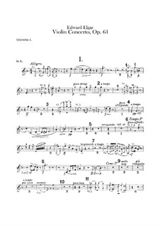 Concerto for Violin and Orchestra, Op.61: Trumpets parts by Edward Elgar