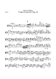 Concerto for Violin and Orchestra, Op.61: Viola part by Edward Elgar