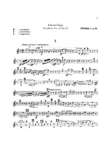 Symphony No.2 in E Flat Major, Op.63: Trumpets parts by Edward Elgar