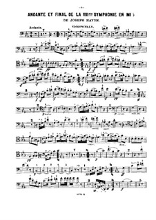 Symphony No.103 in E Flat Major 'Drum Roll', Hob.I/103: Movements II and IV, for violin, cello and piano – cello part by Joseph Haydn