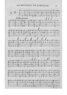 Obras de música para tecla, arpa y vihuela: Movement II by Antonio de Cabezón