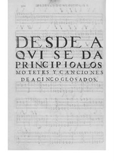 Obras de música para tecla, arpa y vihuela: Movement IV by Antonio de Cabezón