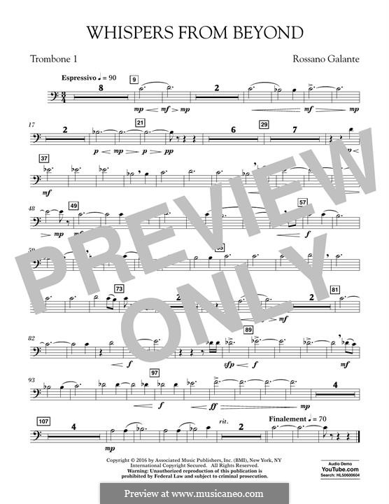 Whispers from Beyond: Trombone 1 part by Rossano Galante