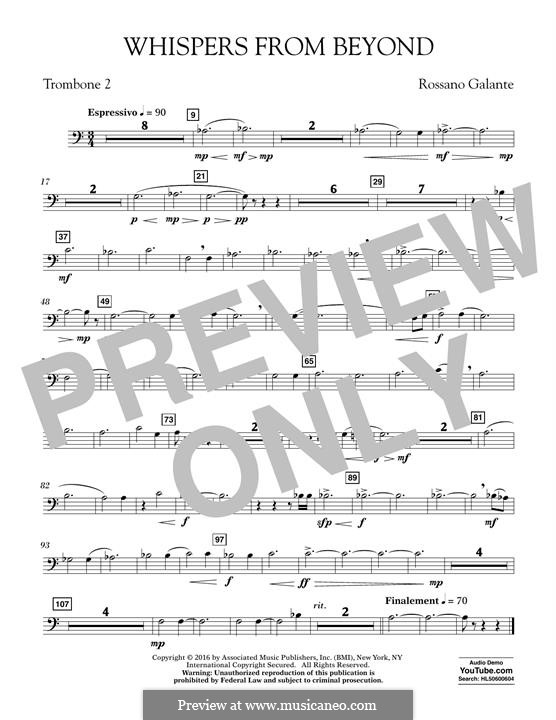 Whispers from Beyond: Trombone 2 part by Rossano Galante