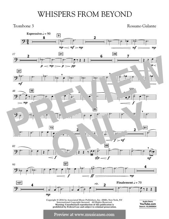 Whispers from Beyond: Trombone 3 part by Rossano Galante