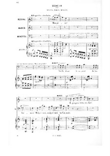 Le vénitien: Act I, Scenes IV-VII, for Soloists, Choir and Piano by Albert Cahen
