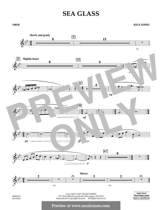 Sea Glass: Oboe part by Rick Kirby