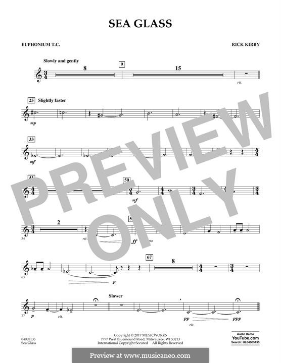 Sea Glass: Euphonium in Treble Clef part by Rick Kirby