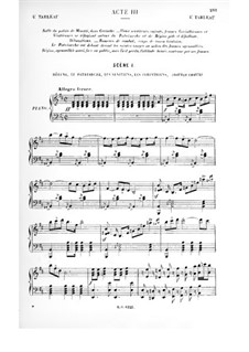 Le vénitien: Act III, for Soloists, Choir and Piano by Albert Cahen