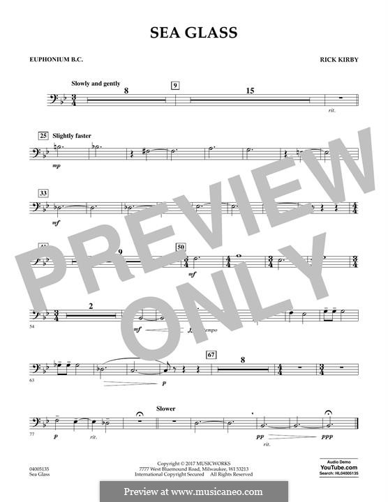 Sea Glass: Euphonium in Bass Clef part by Rick Kirby