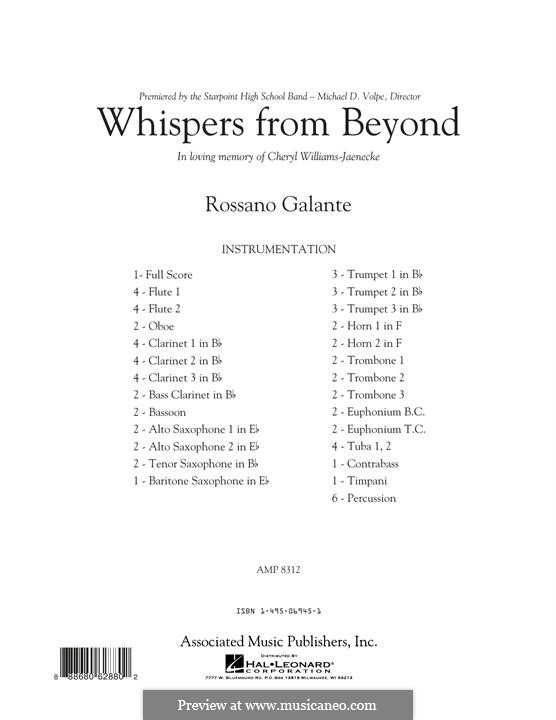 Whispers from Beyond: Full Score by Rossano Galante