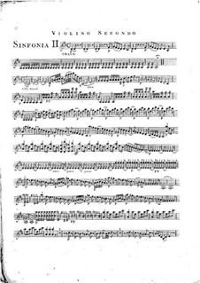 Symphony No.1 in D Major, G.503 Op.12: Violin II part by Luigi Boccherini