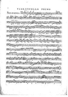 Symphony No.1 in D Major, G.503 Op.12: Cello I part by Luigi Boccherini