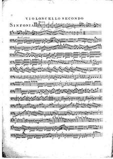 Symphony No.1 in D Major, G.503 Op.12: Cello II part by Luigi Boccherini