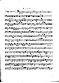 Symphony No.1 in D Major, G.503 Op.12: Double bass part by Luigi Boccherini