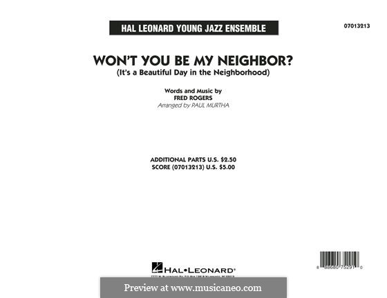 Won't You Be My Neighbor? (It's a Beautiful Day in the Neighborhood): Full Score by Fred Rogers
