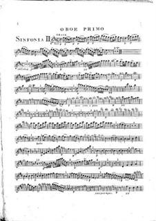 Symphony No.1 in D Major, G.503 Op.12: Oboe I part by Luigi Boccherini