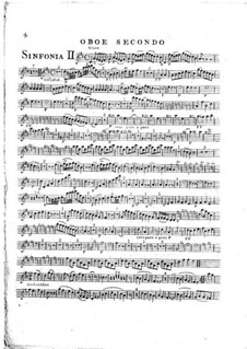 Symphony No.1 in D Major, G.503 Op.12: Oboe II part by Luigi Boccherini