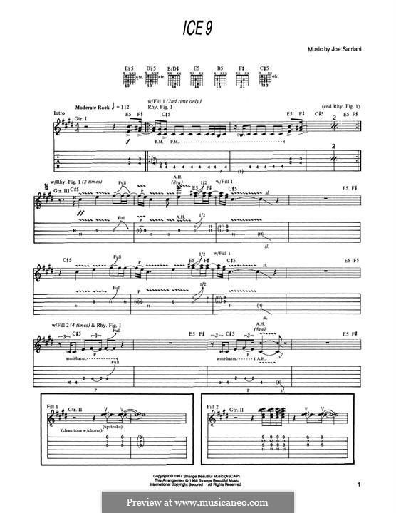 Ice 9: For guitar by Joe Satriani