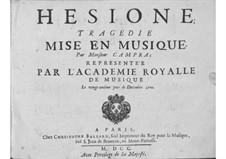 Hésione: Prologue by André Campra