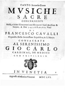 Musiche Sacre concernenti: Soprano II part by Pietro Francesco Cavalli